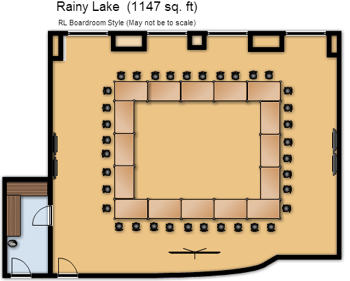 Hollow Square Boardroom Layout