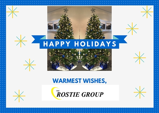 HAPPY HOLIDAYS THE ROSTIE GROUP