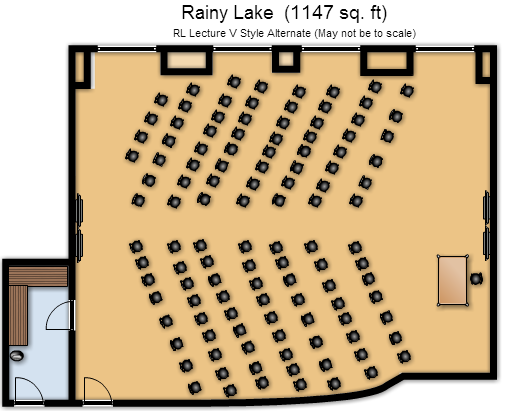Rainy Lake V-Shaped Chevron Layout