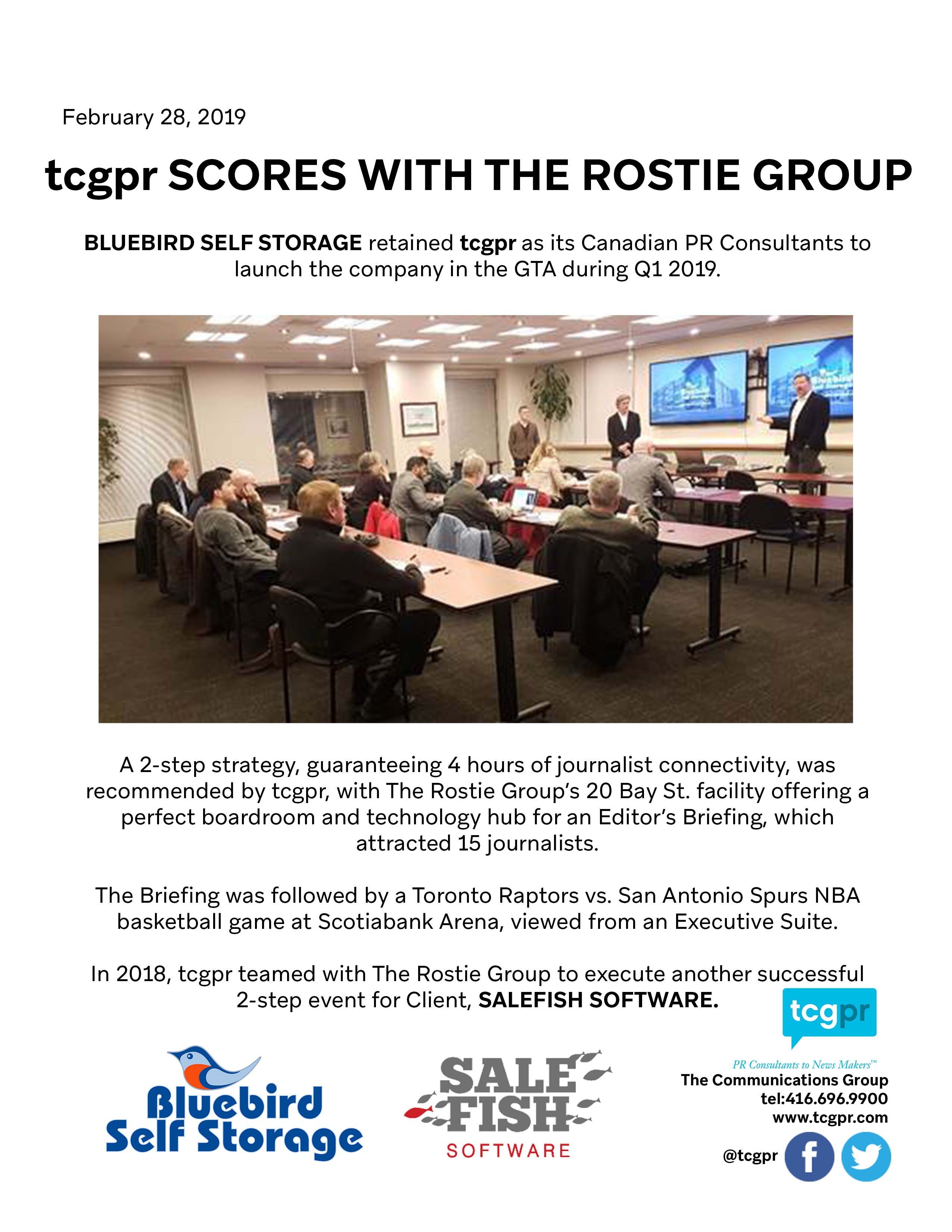 tcgpr scored with The Rostie Group