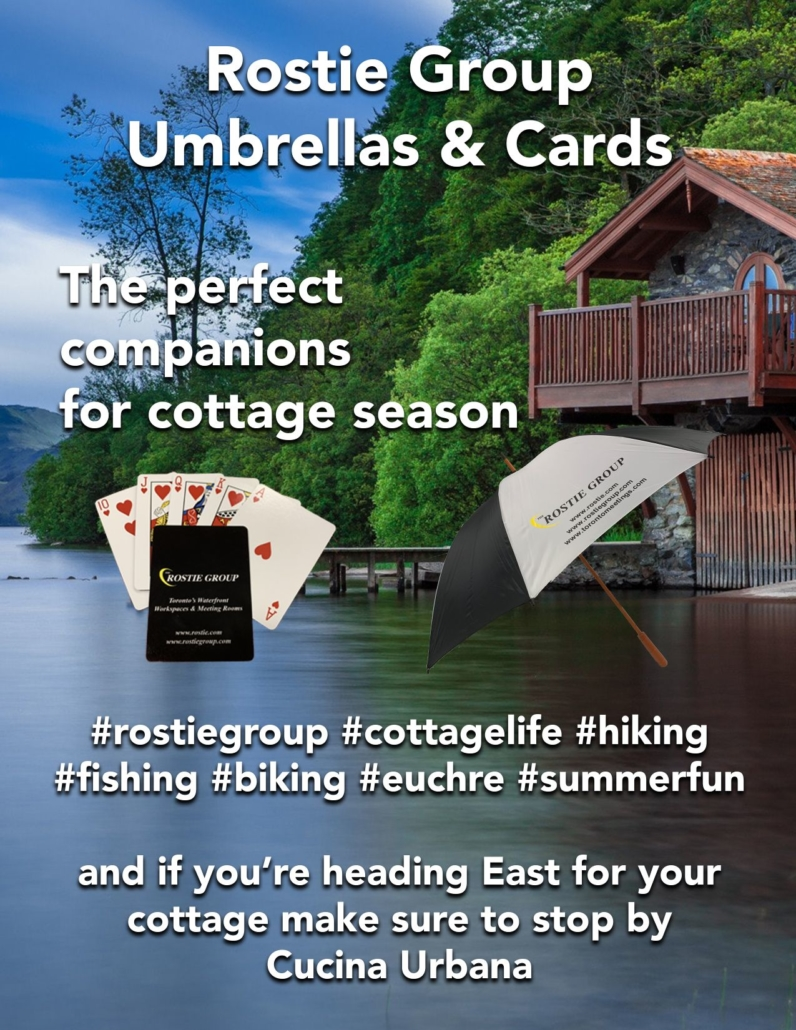 Rostie Group Umbrellas and Cards