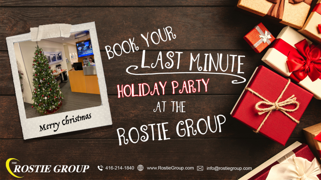 Rostie Group Christmas 2019 Holiday Party Bookings Ad