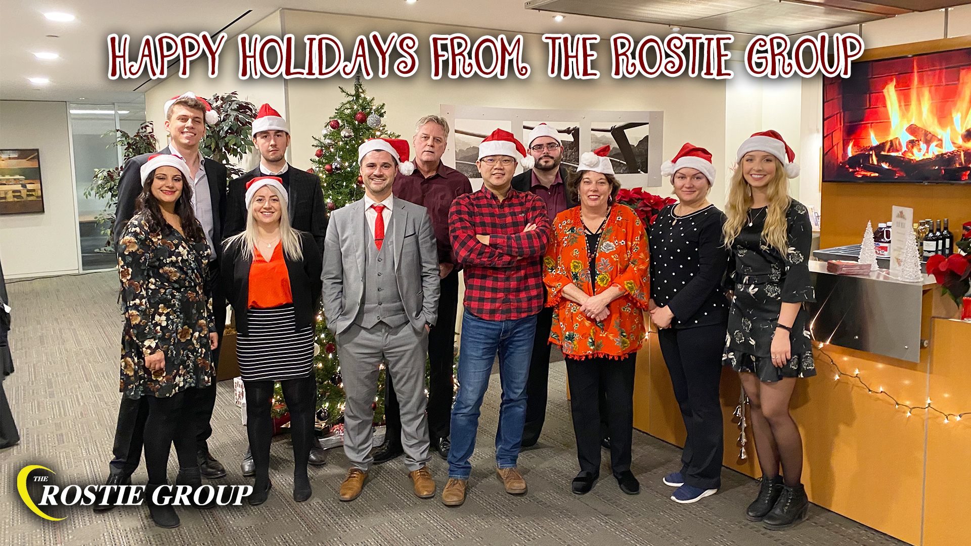 happy holidays 2019 from The Rostie Group Team