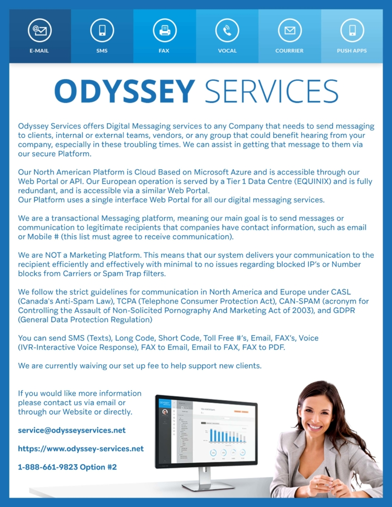 Odyssey Services Rostie Group Scoop April 2020 Ad