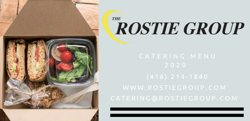 The Rostie Group - 2020 Catering Menu